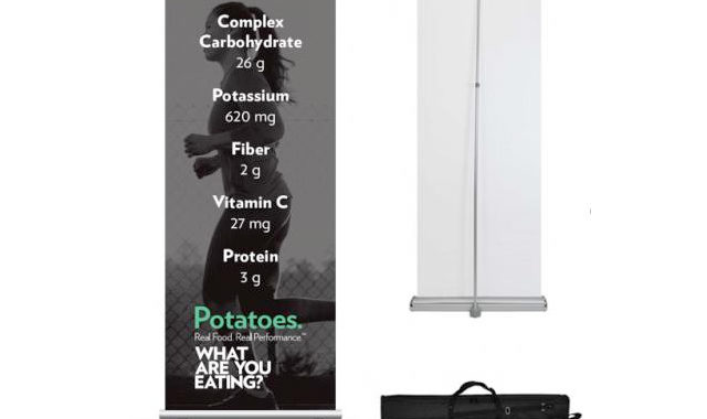 Event Retractable Banner with potato nutritional information