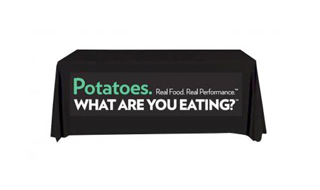 Event Tablecloth - Potatoes. Real Food. Real Performance. What are you eating?