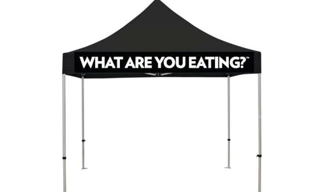 Event Pop Up Tent - What are you eating?