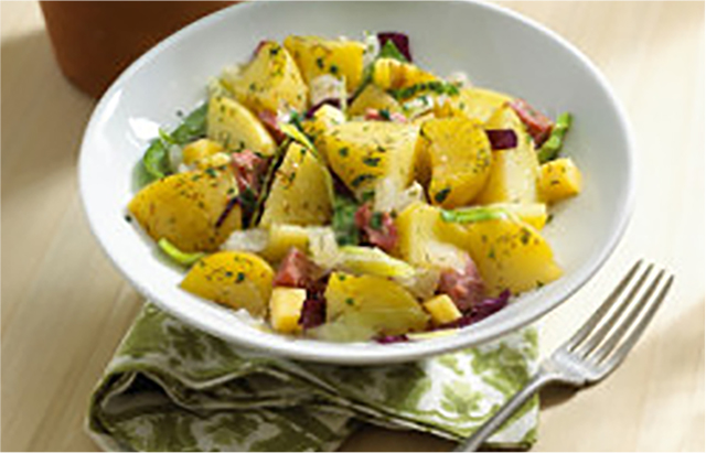 Potato salad prepared dish