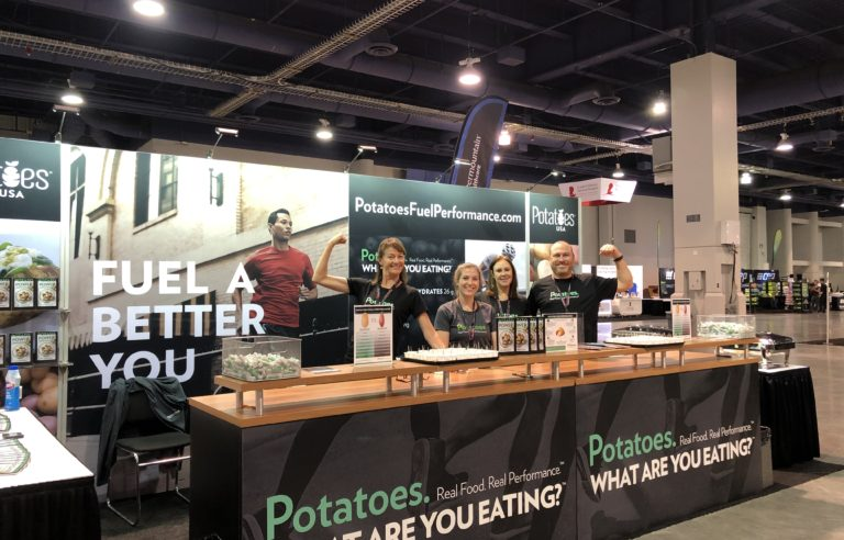 Potatoes USA team at booth at event